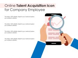 Online Talent Acquisition Icon For Company Employee