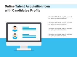 Online Talent Acquisition Icon With Candidates Profile