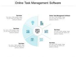Online Task Management Software Ppt Powerpoint Presentation Model Backgrounds Cpb