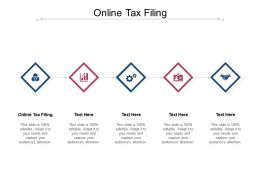 Online Tax Filing Ppt Powerpoint Presentation Summary Show Cpb