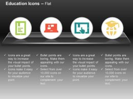 Online Teacher Report Global Degree Education Ppt Icons Graphics