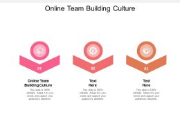 Online Team Building Culture Ppt Powerpoint Presentation Model Show Cpb