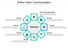 Online Team Communication Ppt Powerpoint Presentation Layouts Portfolio Cpb