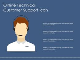 Online Technical Customer Support Icon