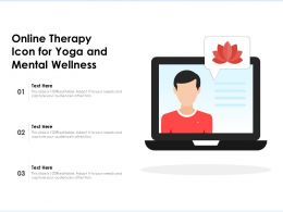 Online Therapy Icon For Yoga And Mental Wellness