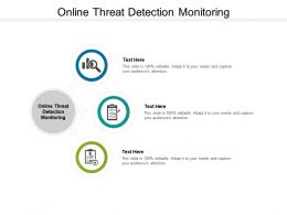Online Threat Detection Monitoring Ppt Powerpoint Presentation Show Cpb
