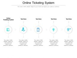 Online Ticketing System Ppt Powerpoint Presentation Outline Pictures Cpb
