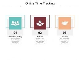 Online Time Tracking Ppt Powerpoint Presentation Inspiration Design Templates Cpb