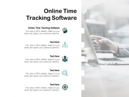Online Time Tracking Software Ppt Powerpoint Presentation Slides Inspiration Cpb