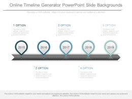 Online Timeline Generator Powerpoint Slide Backgrounds