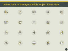 Online Tools To Manage Multiple Project Icons Slide Ppt Powerpoint Styles Slides