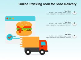 Online Tracking Icon For Food Delivery