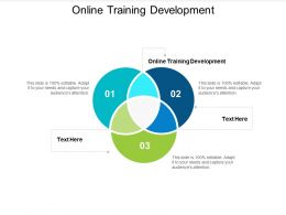 Online Training Development Ppt Powerpoint Presentation Inspiration Design Inspiration Cpb