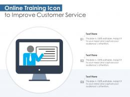 Online Training Icon To Improve Customer Service