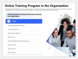 Online Training Program In The Organization Microlearning Platforms Ppt Shows