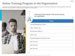 Online Training Program In The Organization Platforms Ppt Powerpoint Diagrams