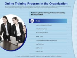 Online Training Program In The Organization Video Tools Ppt Powerpoint Presentation File Grid