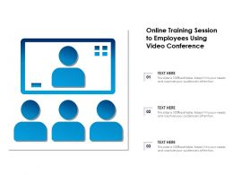 Online Training Session To Employees Using Video Conference