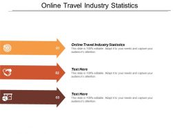 Online Travel Industry Statistics Ppt Powerpoint Presentation Icon Visual Aids Cpb