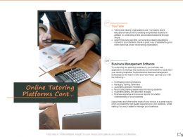 Online Tutoring Platforms Cont Ppt Powerpoint Presentation Visual Aids Infographics