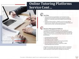 Online Tutoring Platforms Service Cont Ppt Powerpoint Presentation Summary