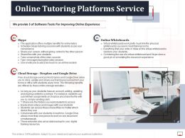 Online Tutoring Platforms Service Ppt Powerpoint Presentation Infographics