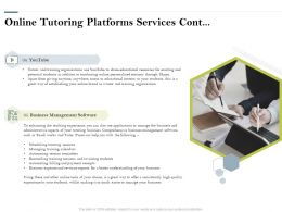 Online Tutoring Platforms Services Management Ppt Powerpoint Presentation Gallery Slides