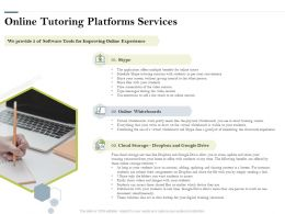 Online Tutoring Platforms Services Ppt Powerpoint Presentation Gallery Gridlines