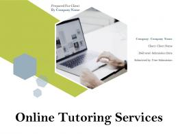 Online Tutoring Services Powerpoint Presentation Slides