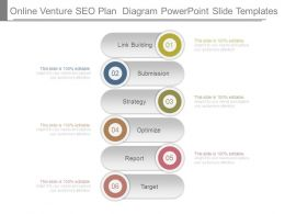 Online Venture Seo Plan Diagram Powerpoint Slide Templates