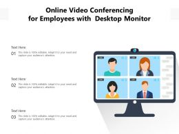 Online Video Conferencing For Employees With  Desktop Monitor