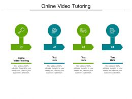 Online Video Tutoring Ppt Powerpoint Presentation Ideas Influencers Cpb