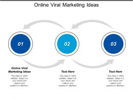 Online Viral Marketing Ideas Ppt Powerpoint Presentation Icon Template Cpb