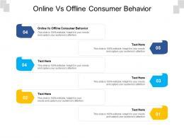 Online Vs Offline Consumer Behavior Ppt Powerpoint Presentation Styles Inspiration Cpb