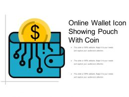 Online Wallet Icon Showing Pouch With Coin