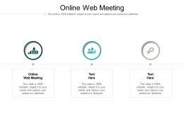 Online Web Meeting Ppt Powerpoint Presentation Infographics Design Templates Cpb