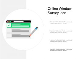 Online Window Survey Icon