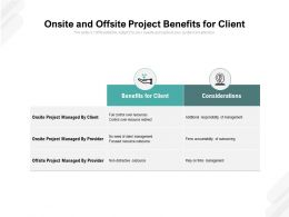 Onsite And Offsite Project Benefits For Client