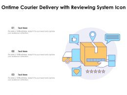 Ontime Courier Delivery With Reviewing System Icon