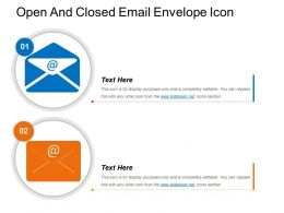 Open And Closed Email Envelope Icon