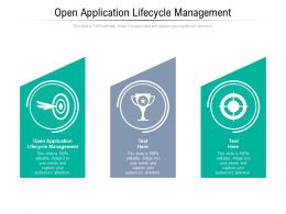 Open Application Lifecycle Management Ppt Powerpoint Presentation Gallery Smartart Cpb