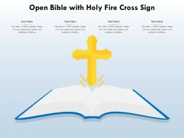 Open Bible With Holy Fire Cross Sign