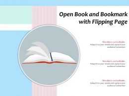 Open Book And Bookmark With Flipping Page