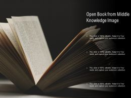 Open Book From Middle Knowledge Image
