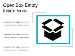 Open Box Empty Inside Icons