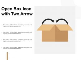 Open Box Icon With Two Arrow