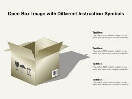 Open Box Image With Different Instruction Symbols