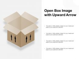 Open Box Image With Upward Arrow