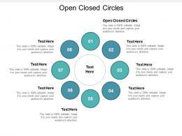 Open Closed Circles Ppt Powerpoint Presentation Gallery Cpb