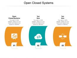 Open Closed Systems Ppt Powerpoint Presentation Images Cpb